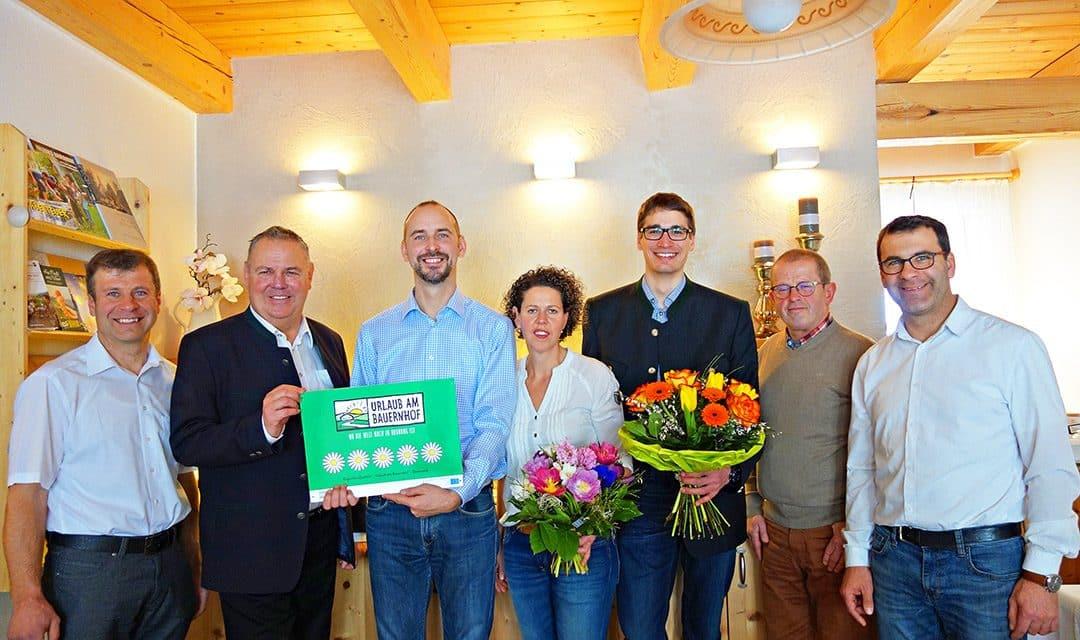 Fünf Blumen für besonderes Bauernhof-Erlebnis