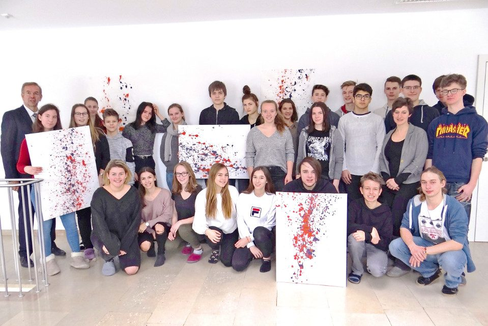 """""""Action Painting"""" in Sachsenbrunn"""