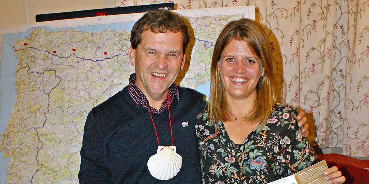 Vater und Tochter auf dem Jakobsweg