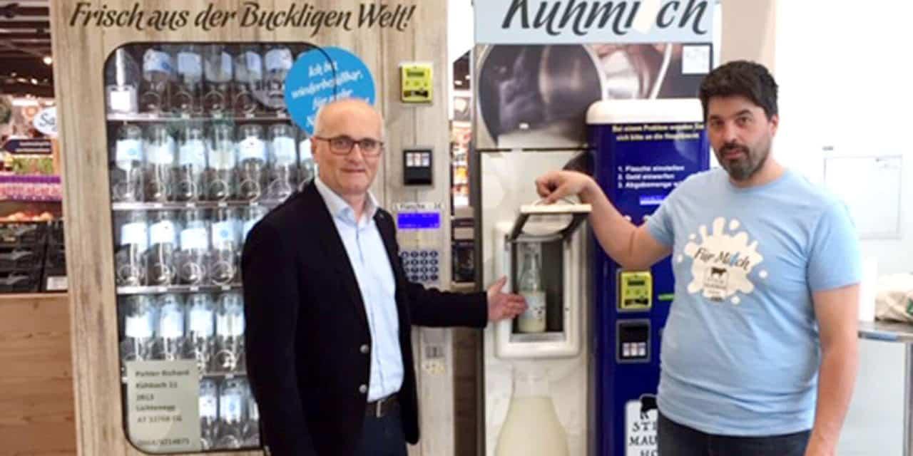 Bucklige Welt-Milch auf Knopfdruck