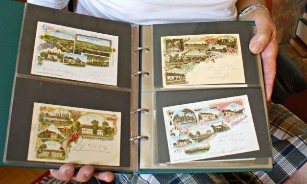 Willi Hofer sammelt Briefmarken und Grußkarten
