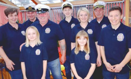Eine ganze Familie als Schiffscrew