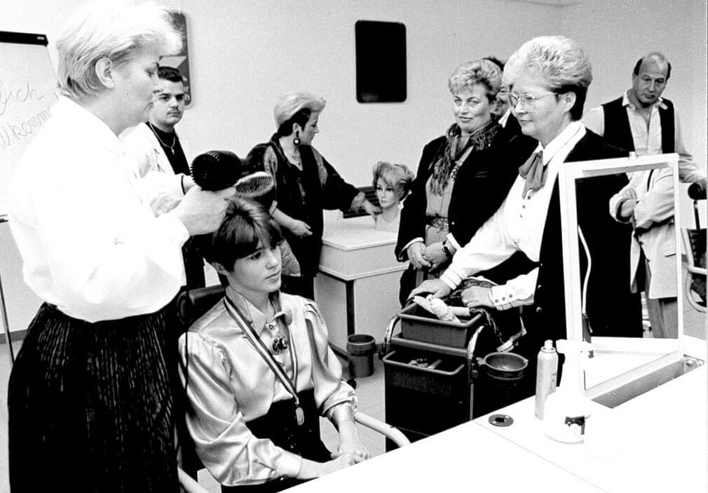 WIFI Neunkirchen Friseurwettbewerb (am Foto Dir. Ingrid Steiner)