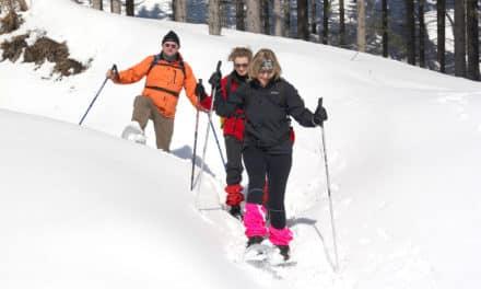 Ausflugstipp am Kampstein: Schneeschuhwandern