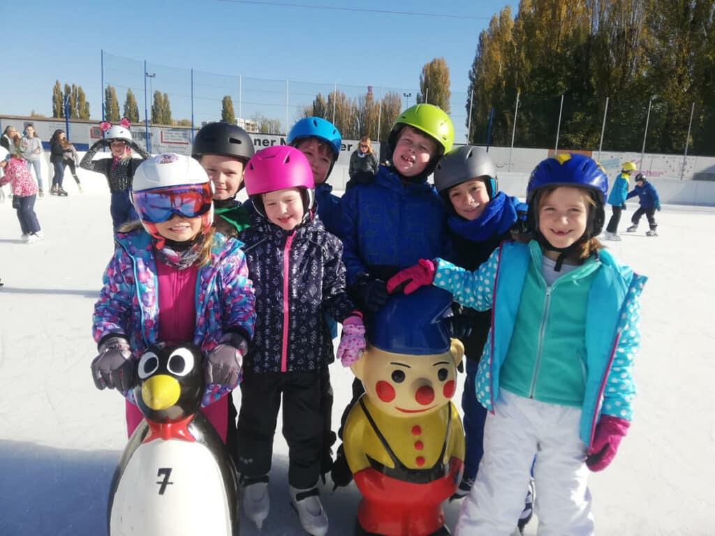 Beim Eislaufen