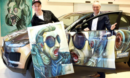 Kunst im Autohaus