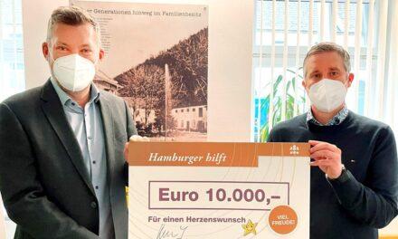 Firma Hamburger erfüllt Herzenswunsch