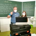 Hybrid-Unterricht an der MS Kirchberg