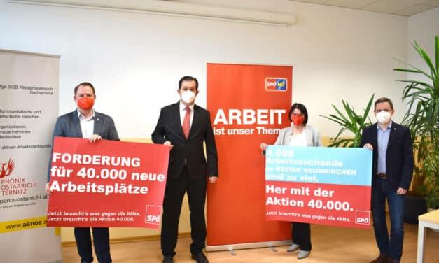Forderung: 40.000 Jobs in Niederösterreich