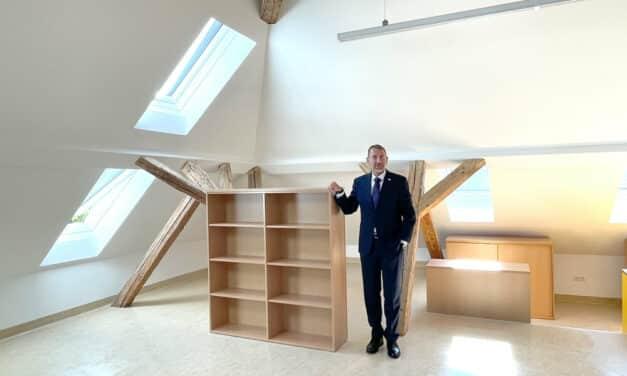 Neue Klassenräume statt alter Dachboden