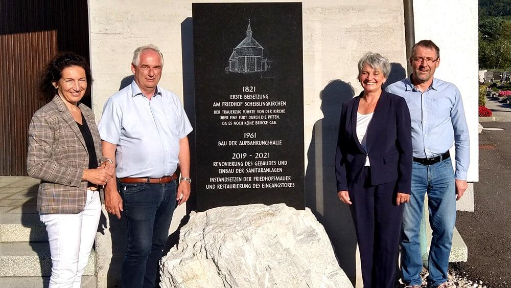 Gedenkstein zum Friedhof-Jubiläum