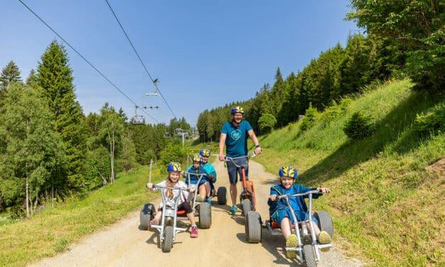 Erlebnisalm Mönichkirchen: wandern, Mountaincart fahren und schaukeln